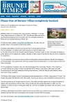 """Phase One of Borneo Villas Completely Booked"" - Brunei Times"